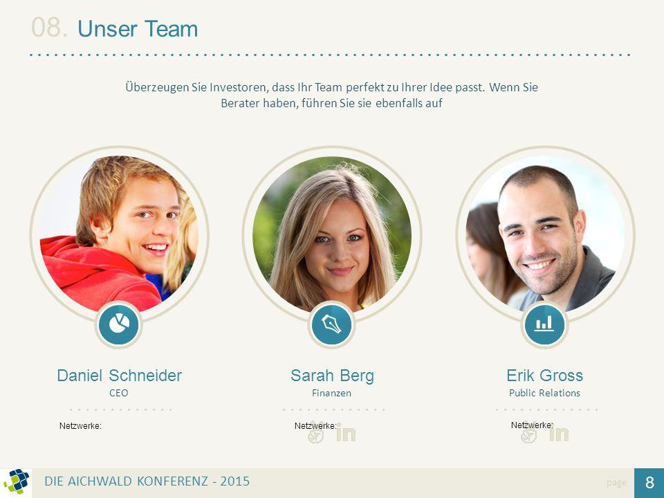 08. Unser Team Daniel Schneider Sarah Berg Erik Gross 8