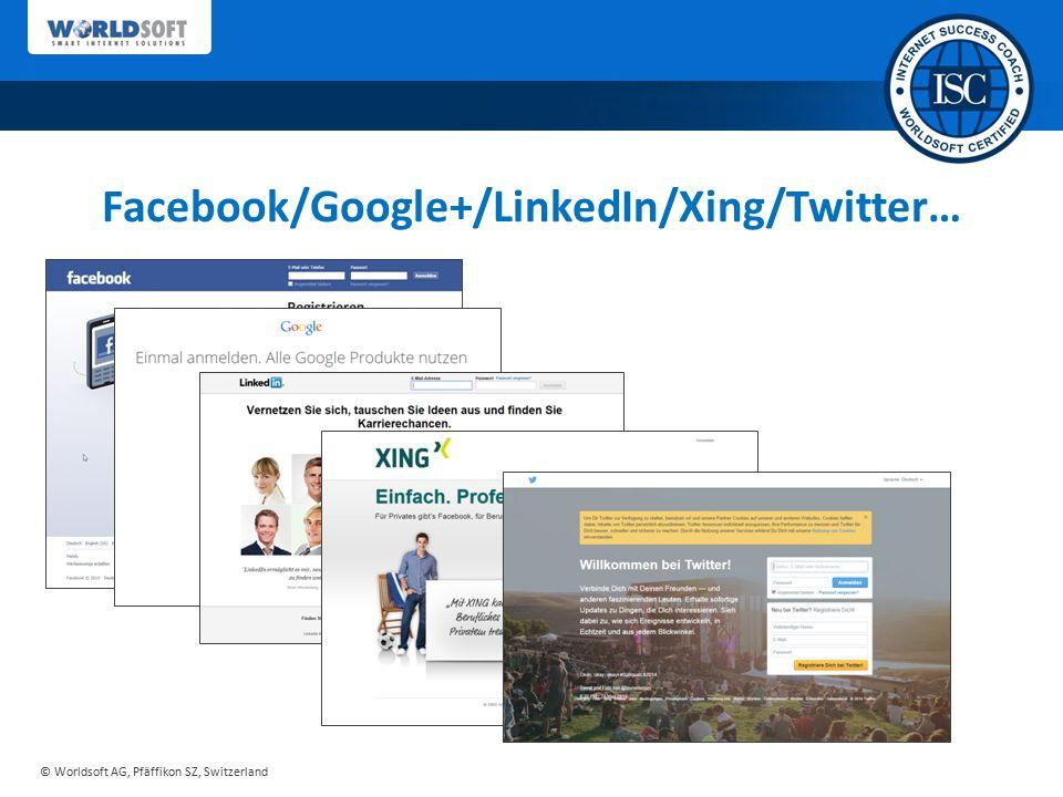 Facebook/Google+/LinkedIn/Xing/Twitter…
