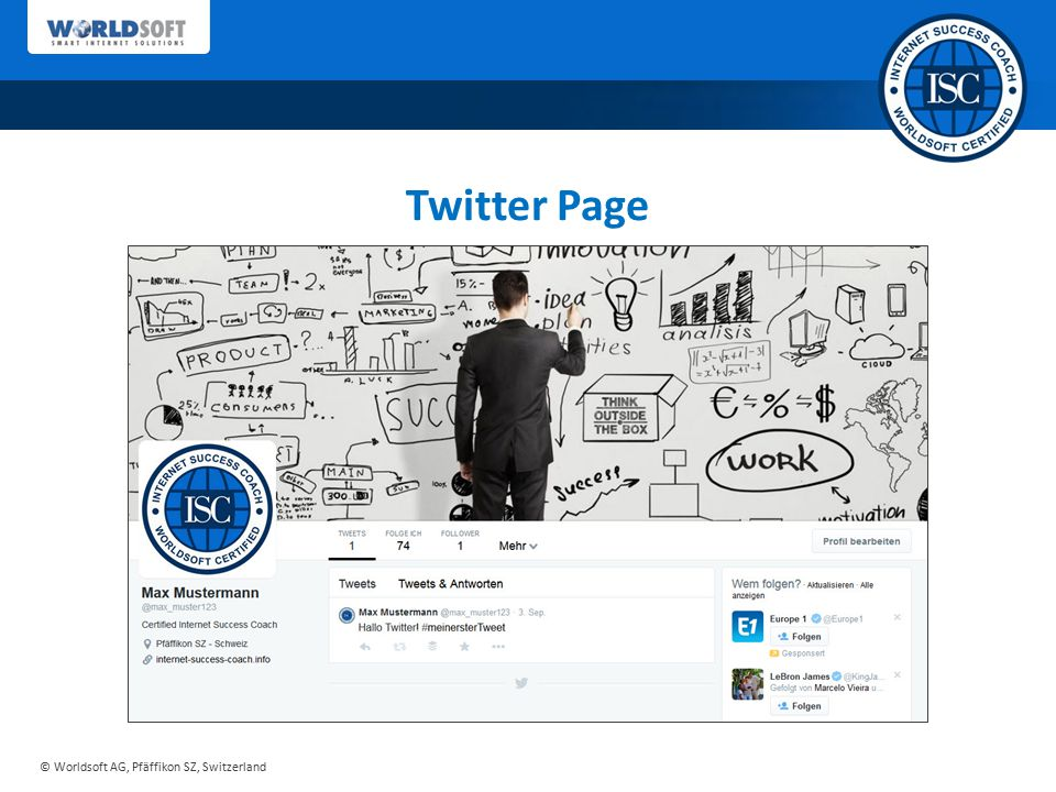 Twitter Page Sie erhalten von uns ein ausgereiftes Konzept…