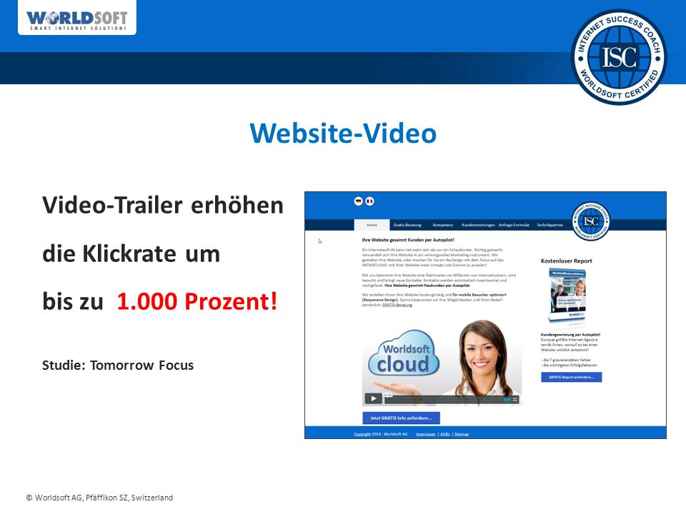 Website-Video Video-Trailer erhöhen die Klickrate um