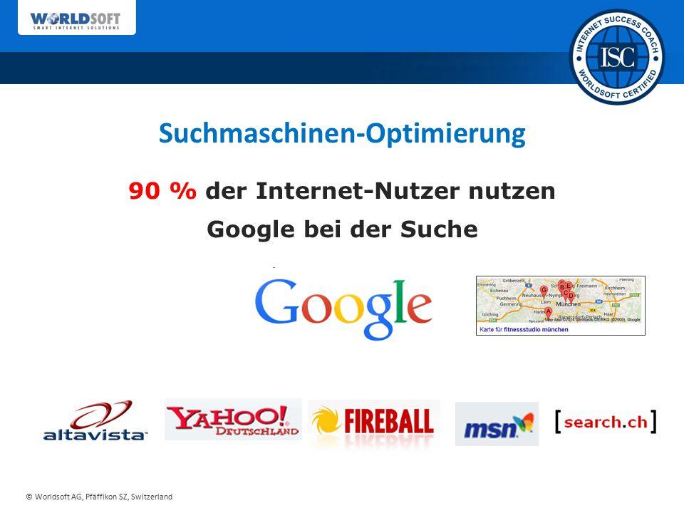 Suchmaschinen-Optimierung 90 % der Internet-Nutzer nutzen