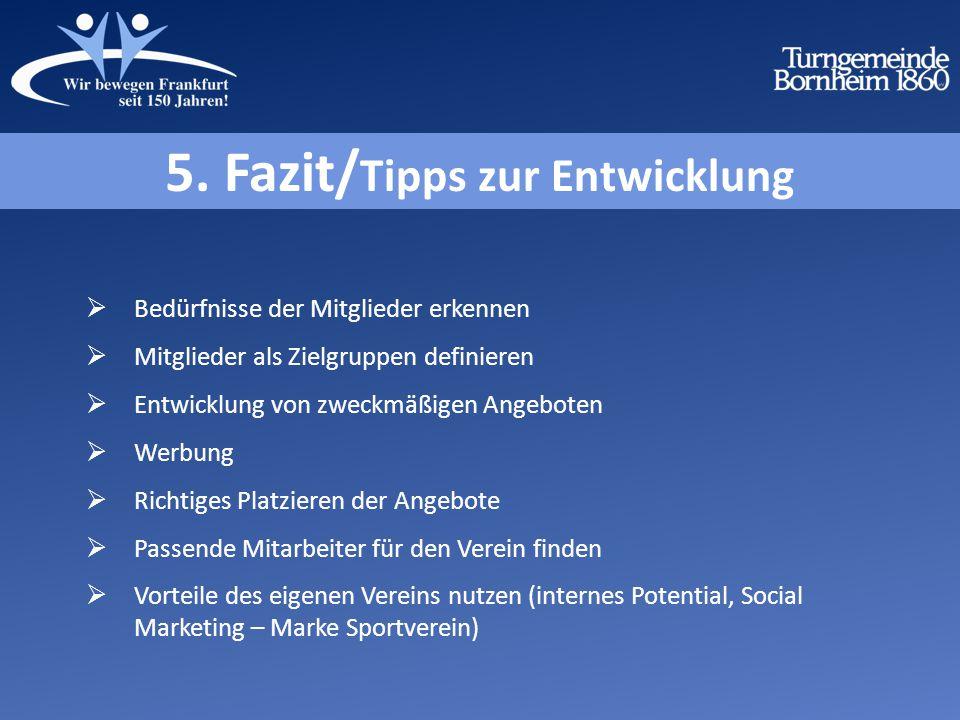 5. Fazit/Tipps zur Entwicklung