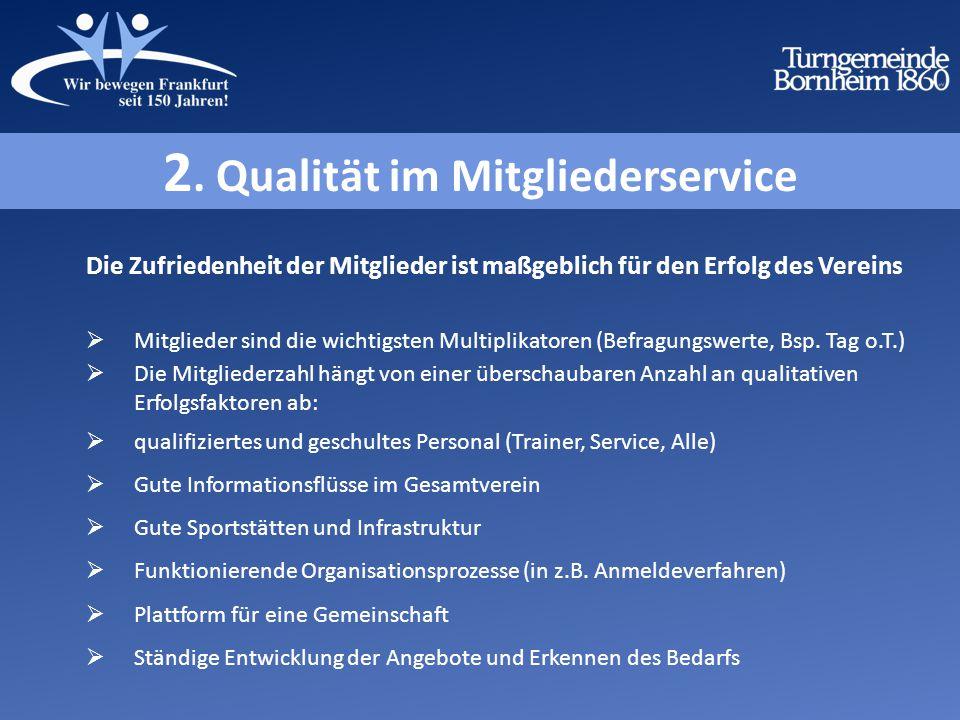 2. Qualität im Mitgliederservice