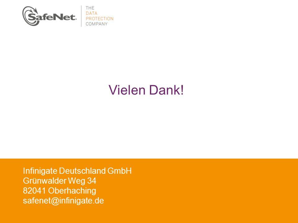 Vielen Dank! Infinigate Deutschland GmbH Grünwalder Weg 34
