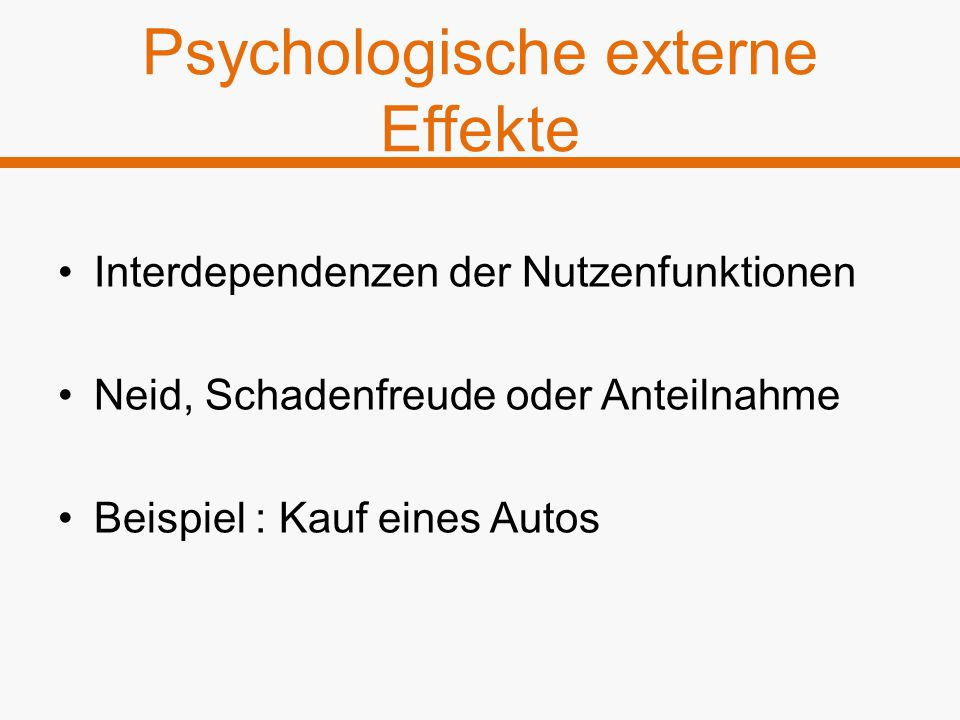 Psychologische externe Effekte