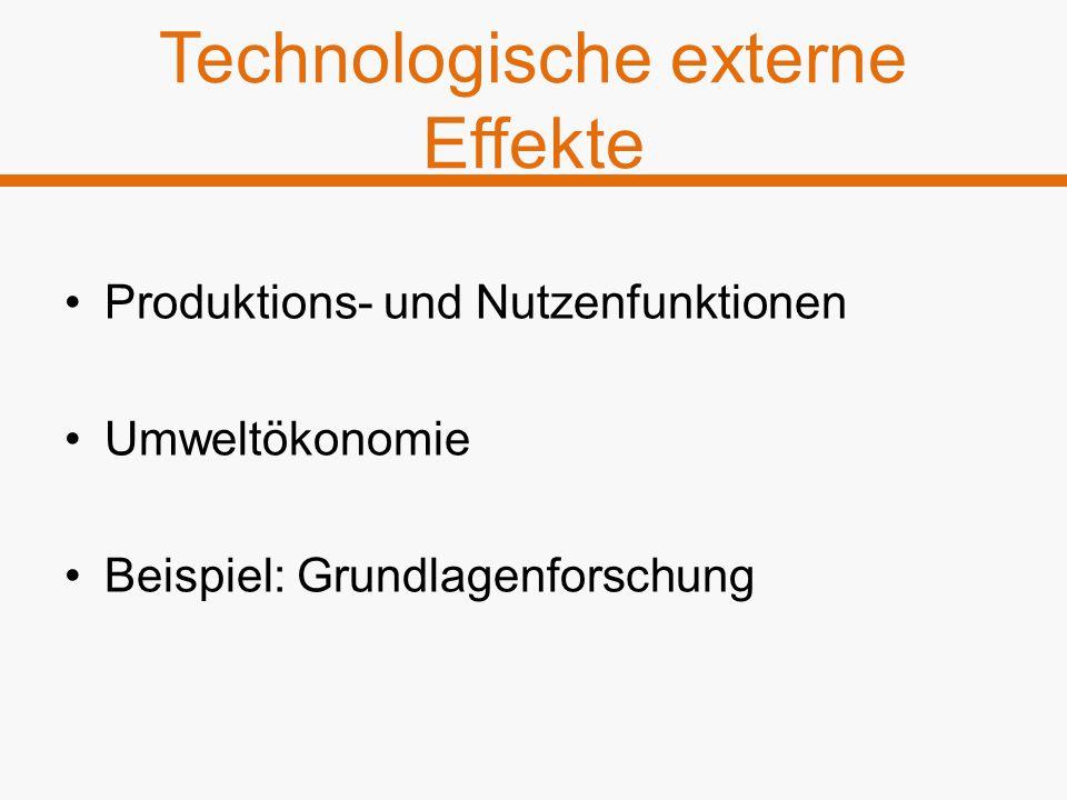 Technologische externe Effekte