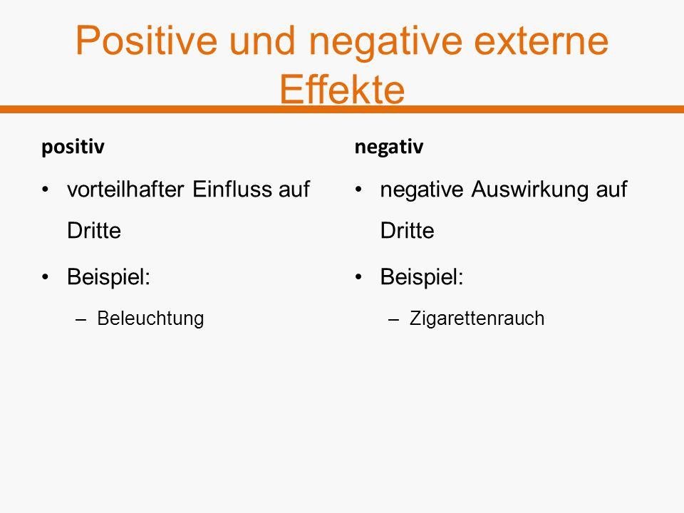 Positive und negative externe Effekte