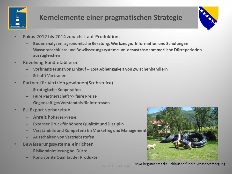 Kernelemente einer pragmatischen Strategie