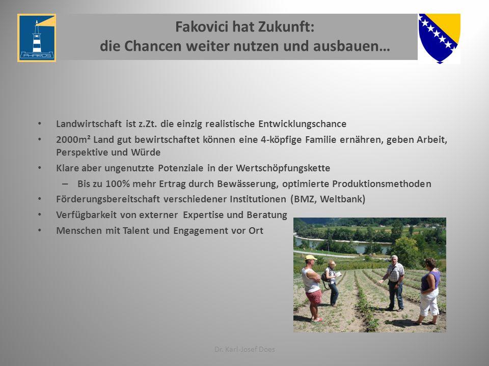 Fakovici hat Zukunft: die Chancen weiter nutzen und ausbauen…