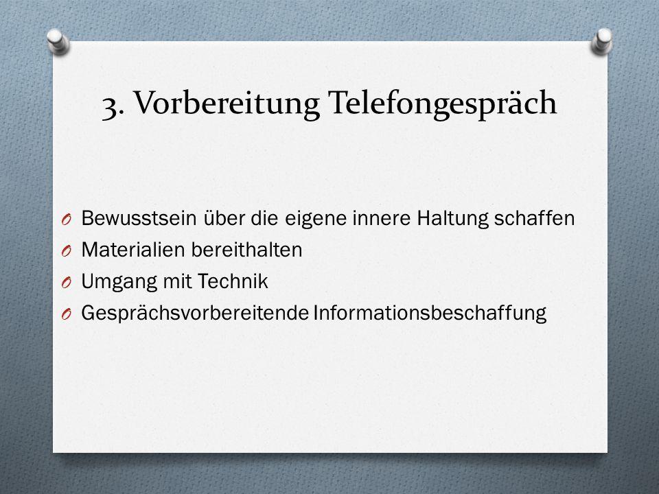 3. Vorbereitung Telefongespräch