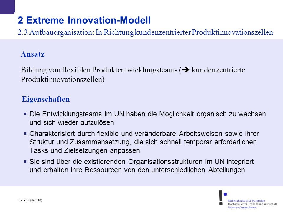 2 Extreme Innovation-Modell