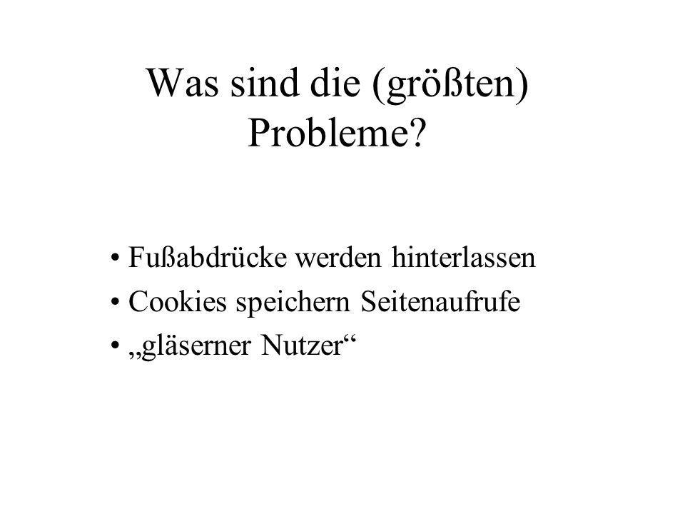 Was sind die (größten) Probleme