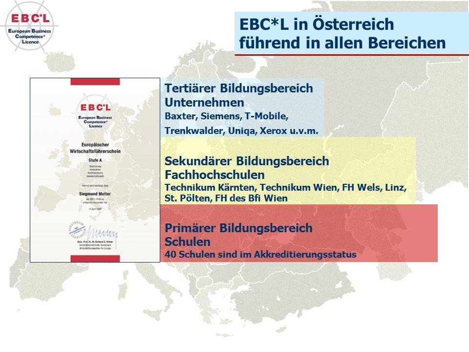 EBC*L in Österreich führend in allen Bereichen