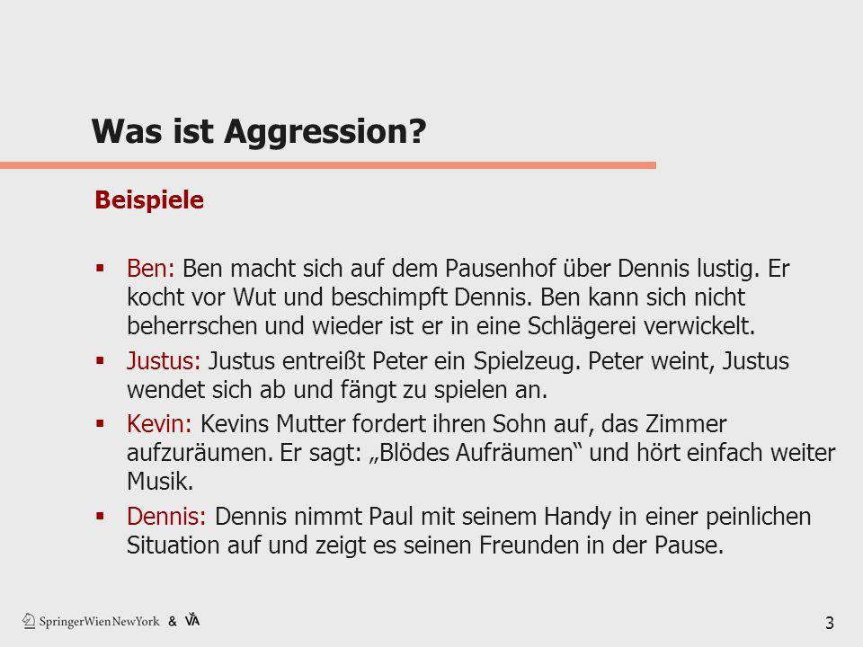 Was ist Aggression Beispiele