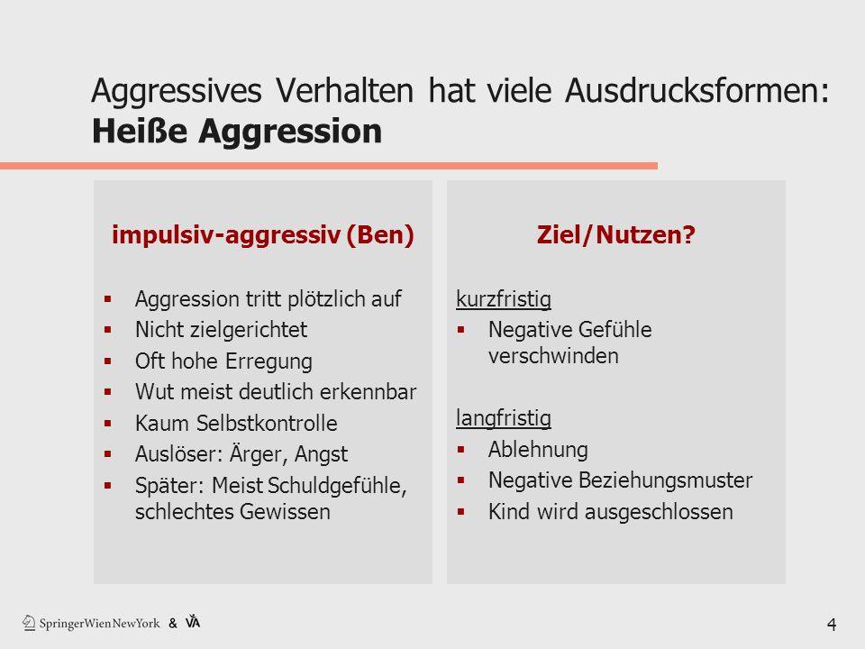 Aggressives Verhalten hat viele Ausdrucksformen: Heiße Aggression