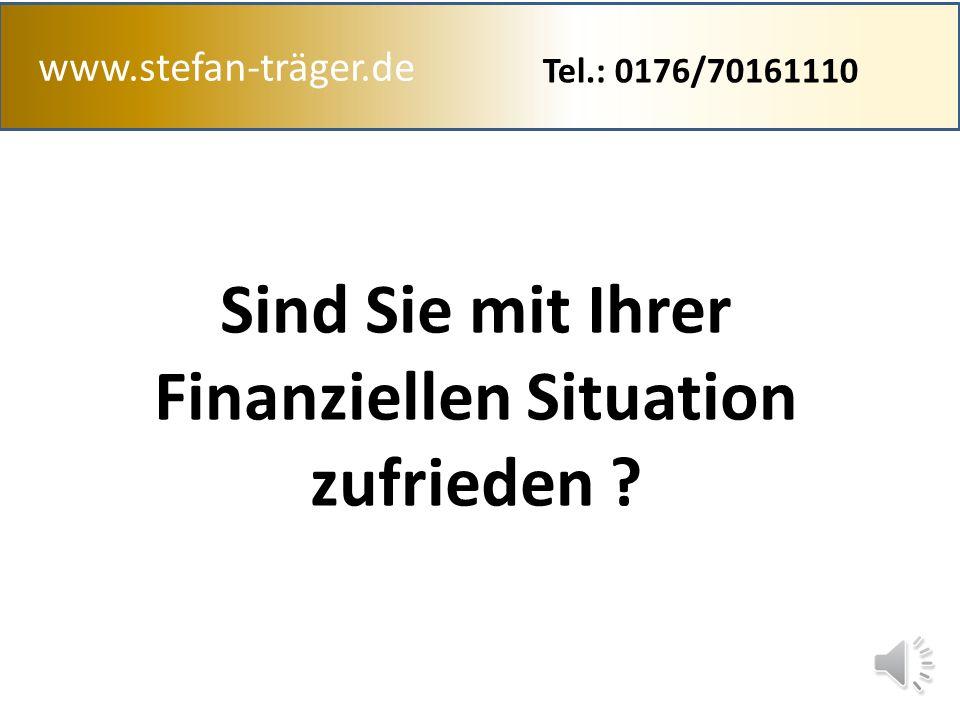 Sind Sie mit Ihrer Finanziellen Situation zufrieden
