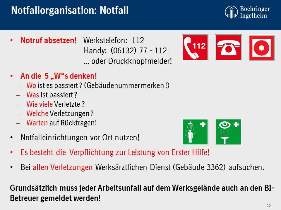Notfallorganisation: Notfall