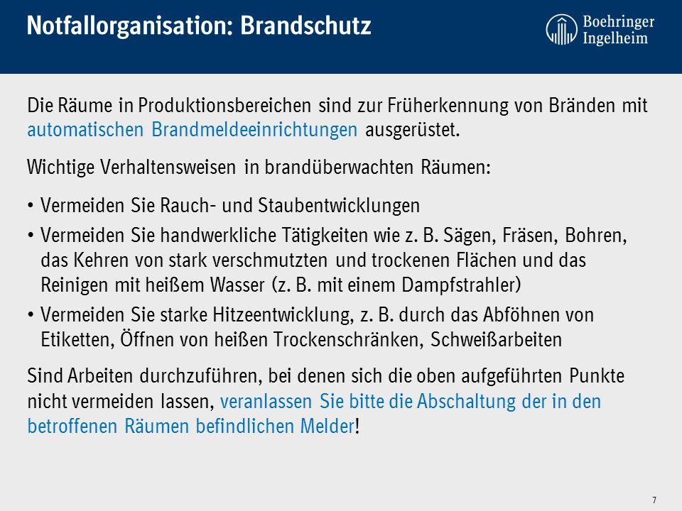 Notfallorganisation: Brandschutz