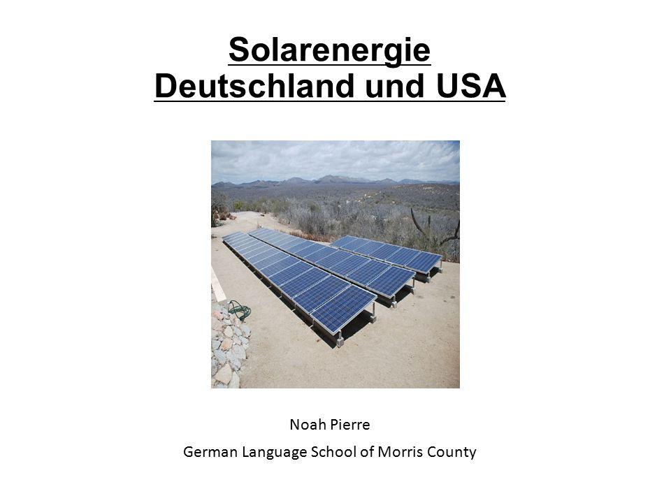 Solarenergie Deutschland und USA