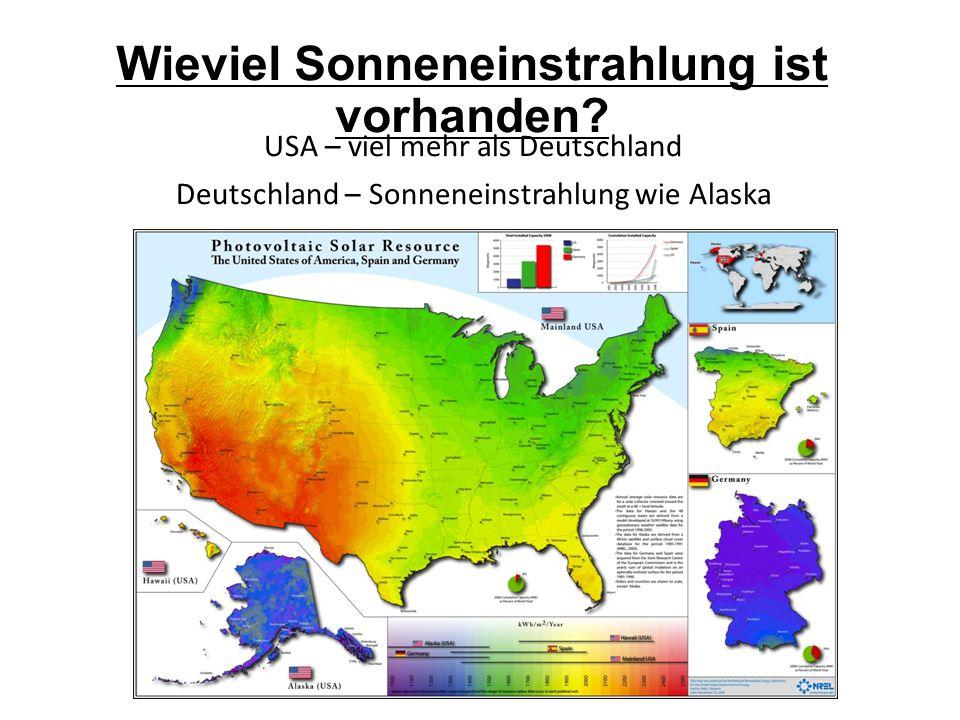 Wieviel Sonneneinstrahlung ist vorhanden