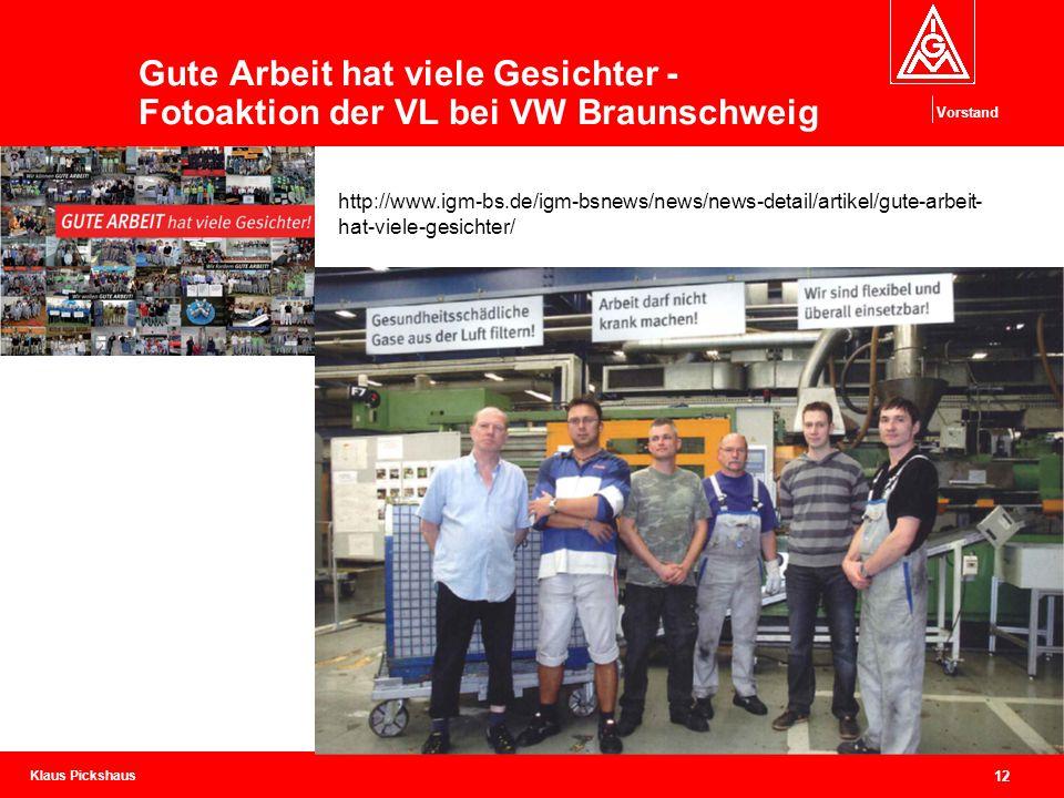 Gute Arbeit hat viele Gesichter - Fotoaktion der VL bei VW Braunschweig