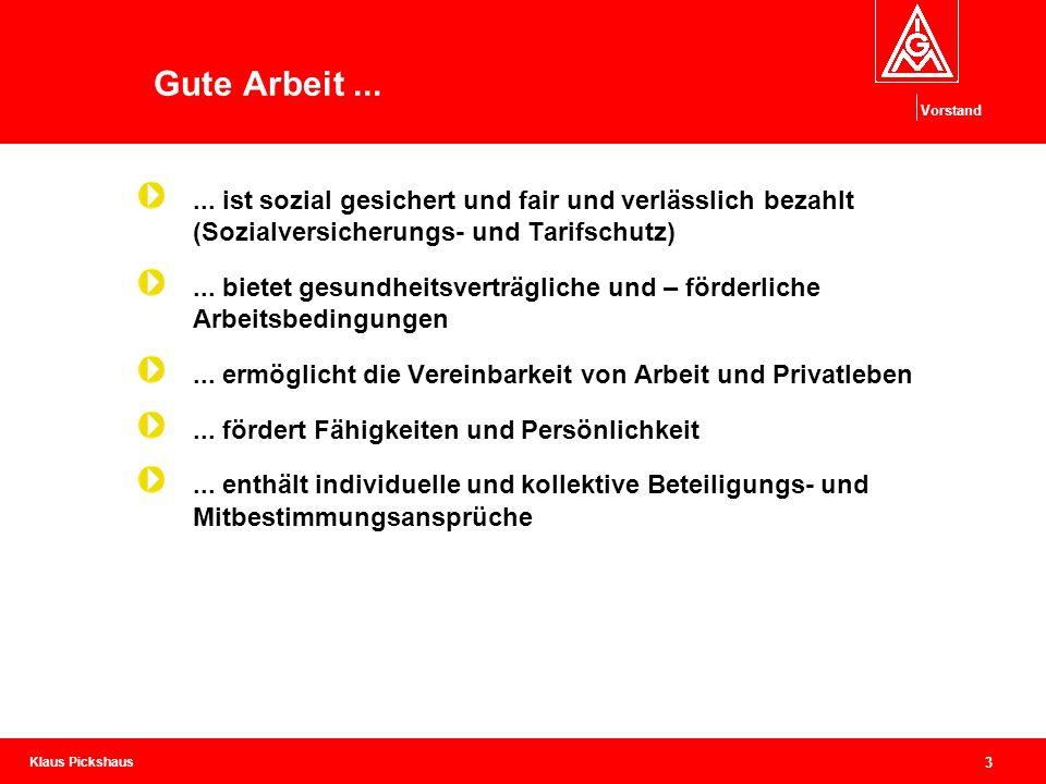 IG Metall Vorstand Ressort Handwerk