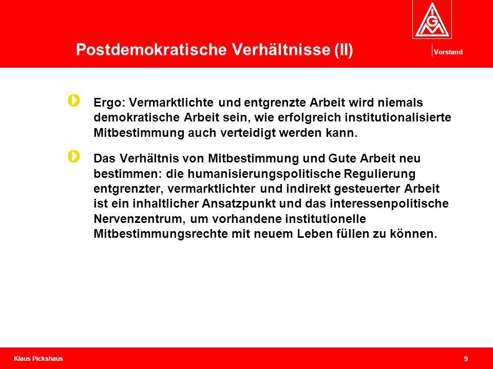 Postdemokratische Verhältnisse (II)