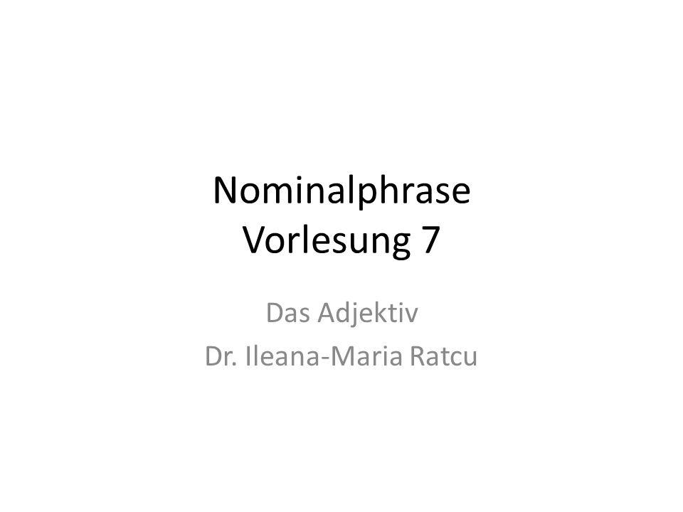 Nominalphrase Vorlesung 7