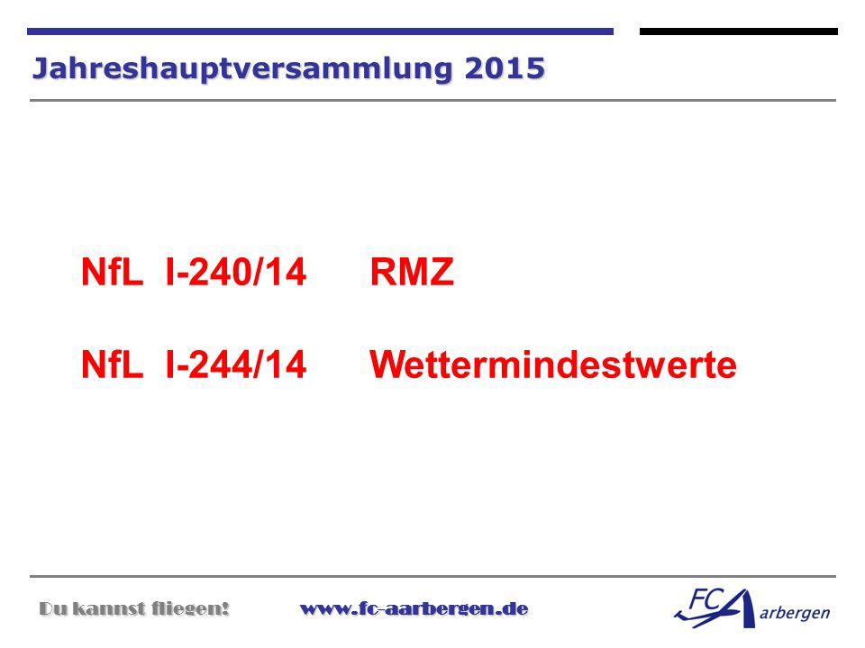NfL I-240/14 RMZ NfL I-244/14 Wettermindestwerte