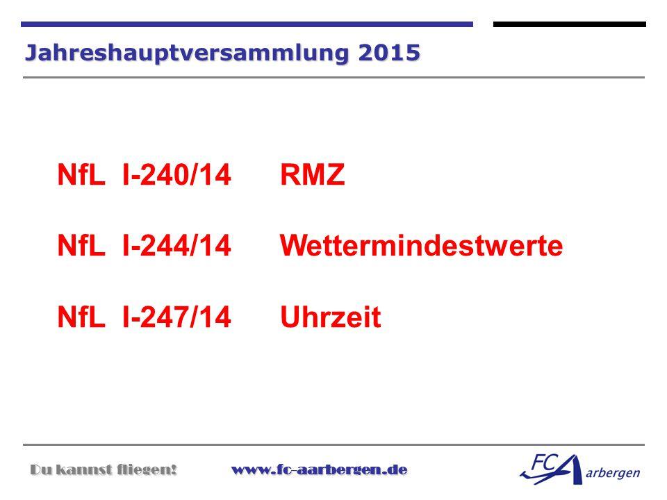 NfL I-240/14 RMZ NfL I-244/14 Wettermindestwerte NfL I-247/14 Uhrzeit