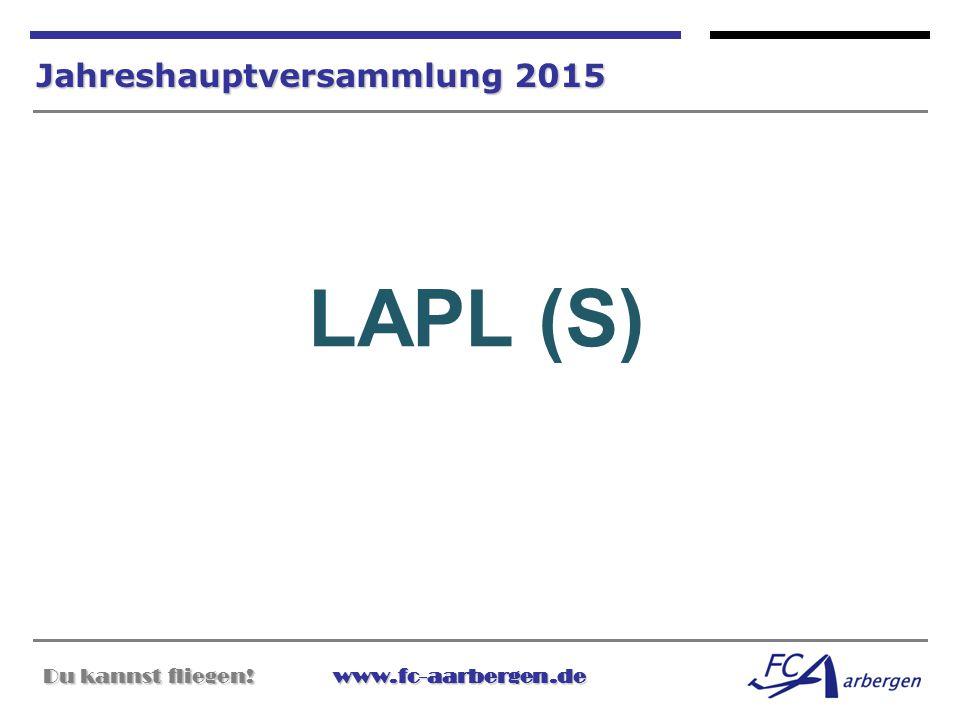 LAPL (S) Jahreshauptversammlung 2015
