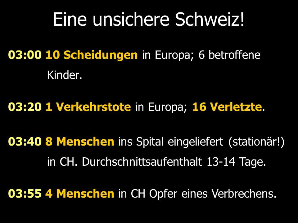 Eine unsichere Schweiz!