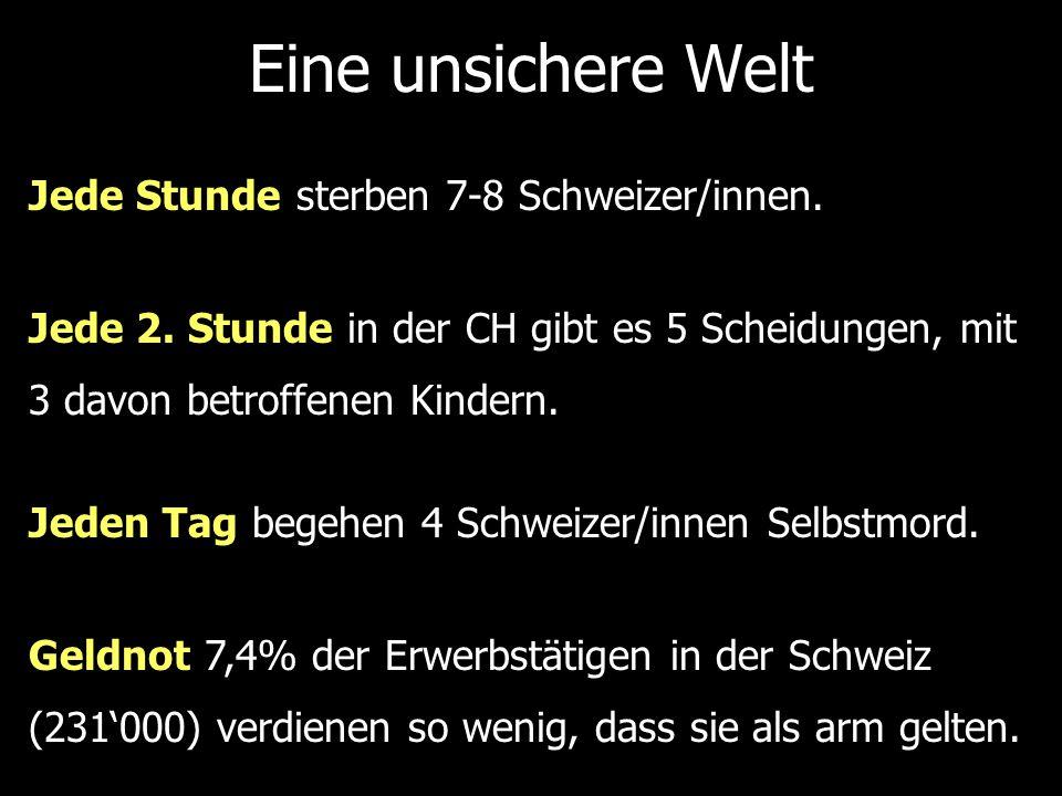 Jede Stunde sterben 7-8 Schweizer/innen.