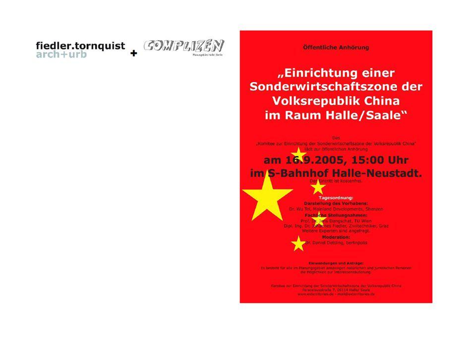 projekt gefiel architektengruppe in Dtl, unterstützt die aktion der ankündigung der sonderwirtschaftszone in Halle Leipzig