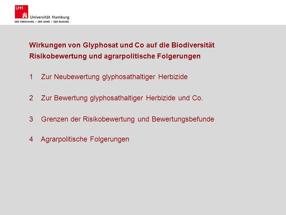 Wirkungen von Glyphosat und Co auf die Biodiversität