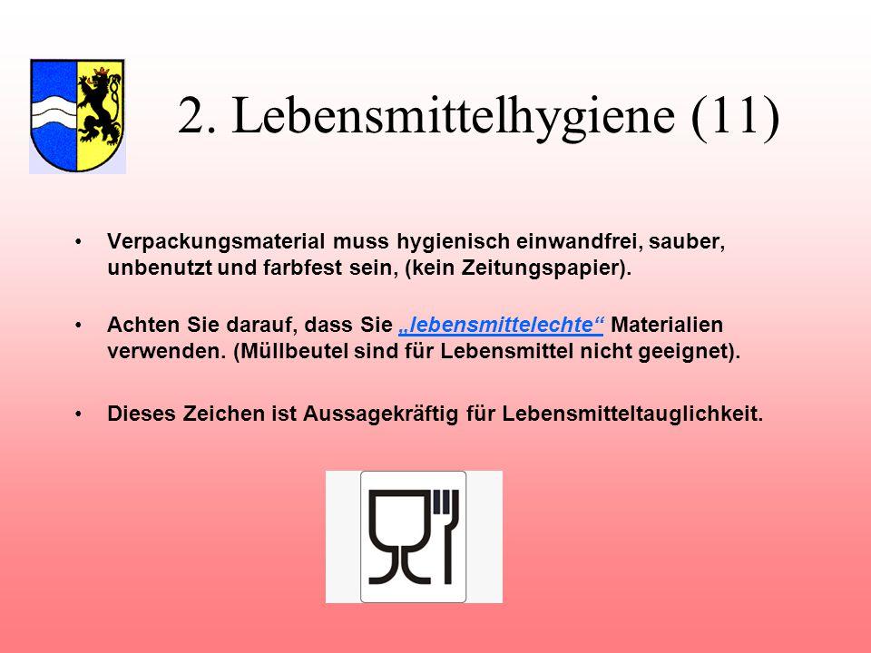 2. Lebensmittelhygiene (11)