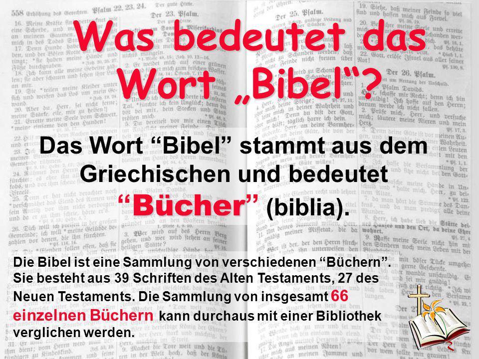 """Was bedeutet das Wort """"Bibel"""