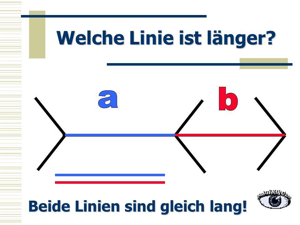 Welche Linie ist länger