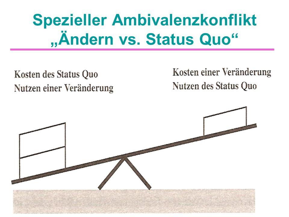"""Spezieller Ambivalenzkonflikt """"Ändern vs. Status Quo"""