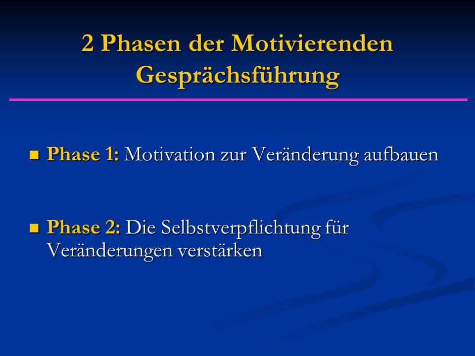 2 Phasen der Motivierenden Gesprächsführung