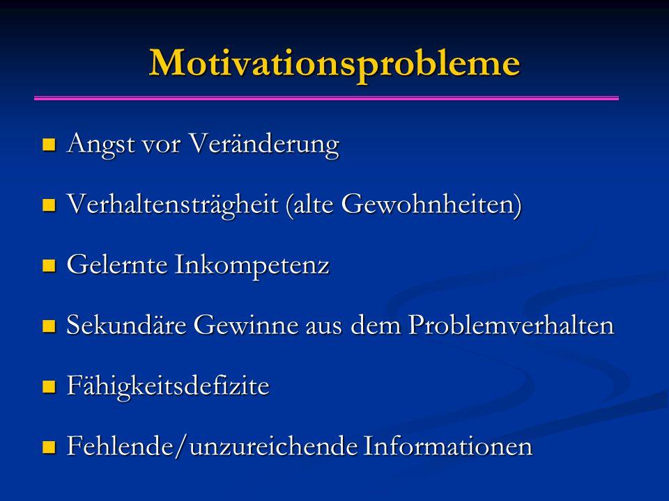 Motivationsprobleme Angst vor Veränderung