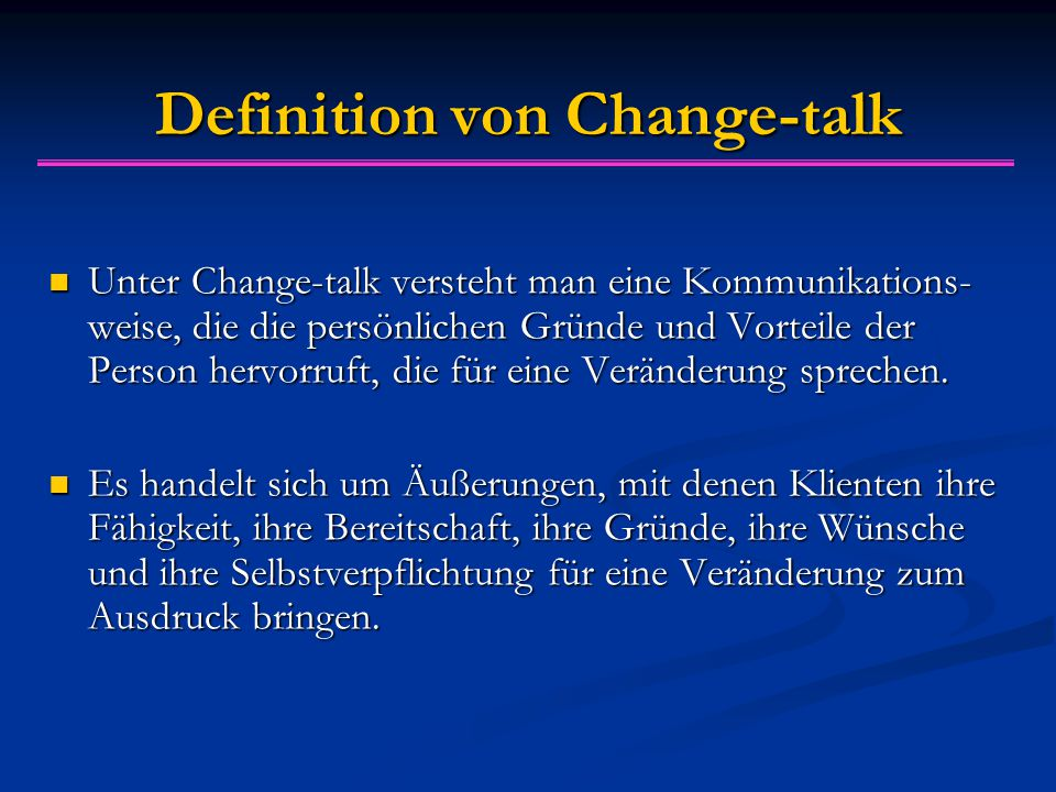 Definition von Change-talk