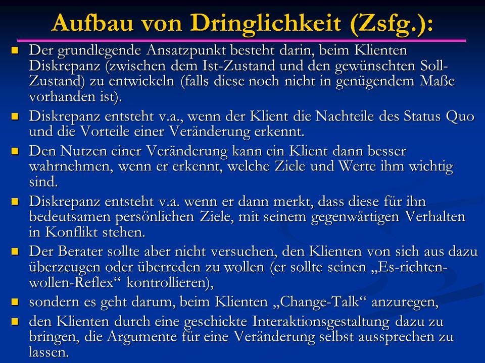 Aufbau von Dringlichkeit (Zsfg.):