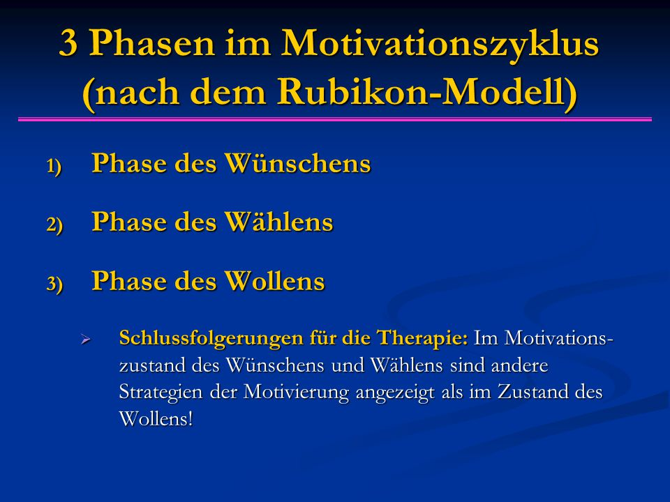3 Phasen im Motivationszyklus (nach dem Rubikon-Modell)
