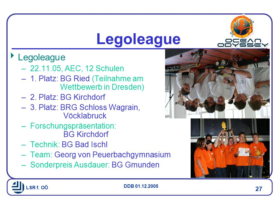 Legoleague Legoleague 22.11.05, AEC, 12 Schulen