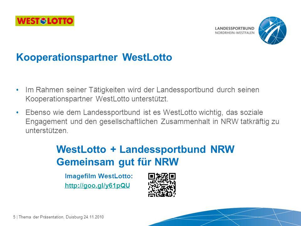 Kooperationspartner WestLotto