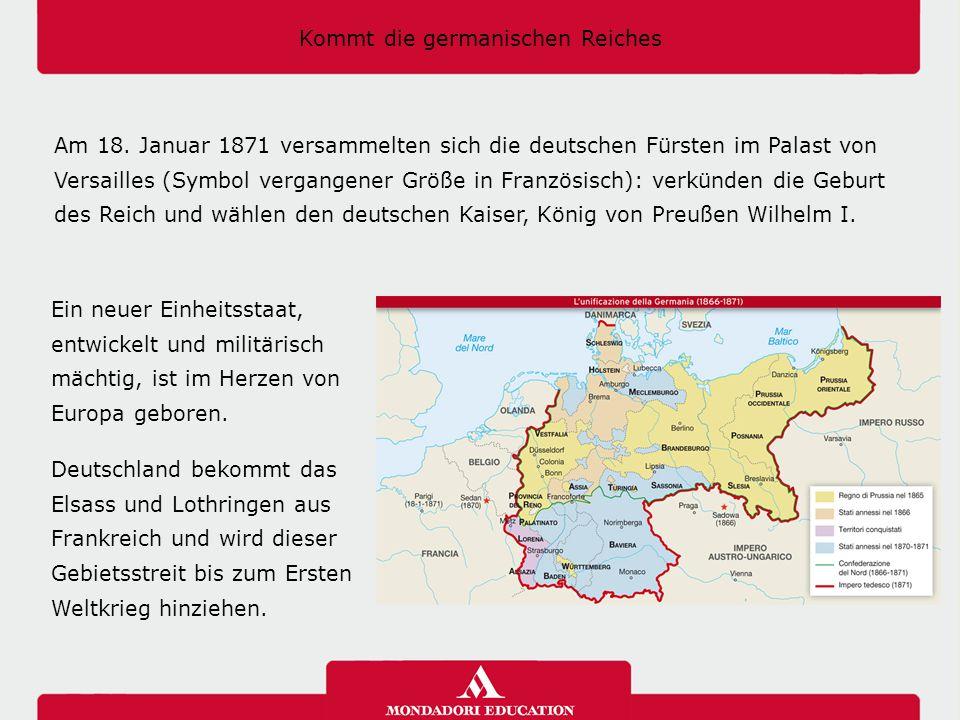 Kommt die germanischen Reiches