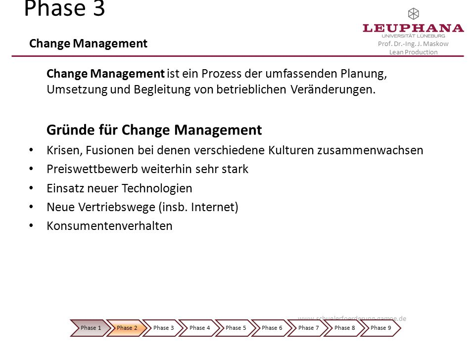 Phase 3 Change Management