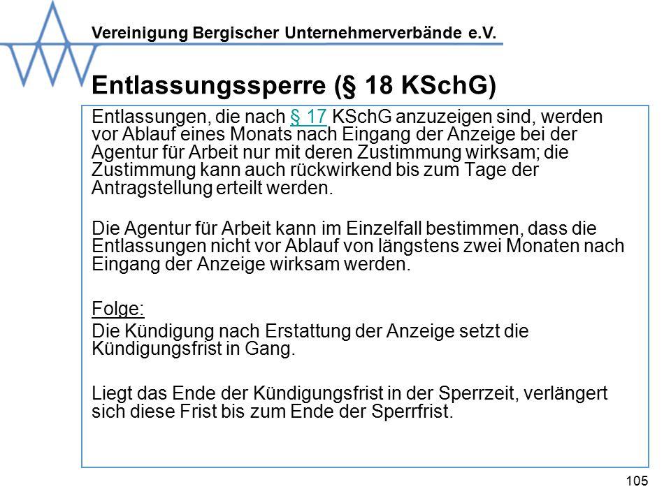 Entlassungssperre (§ 18 KSchG)