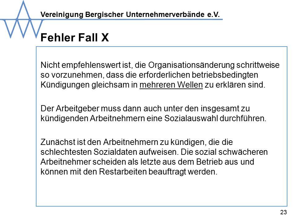 Fehler Fall X